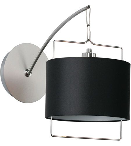 ET2 Passion 1 Light Wall Sconce in Satin Nickel and Polished Chrome E22311-02 photo