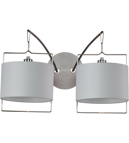 ET2 Passion 2 Light Wall Sconce in Satin Nickel and Polished Chrome E22312-01 photo
