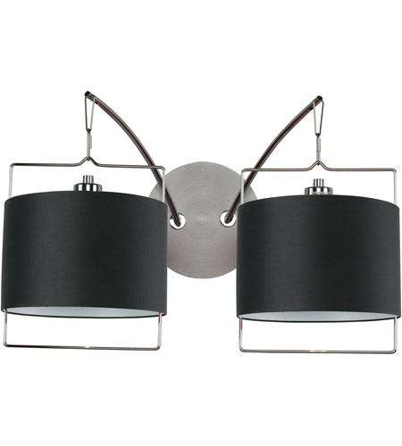ET2 Passion 2 Light Wall Sconce in Satin Nickel and Polished Chrome E22312-02 photo