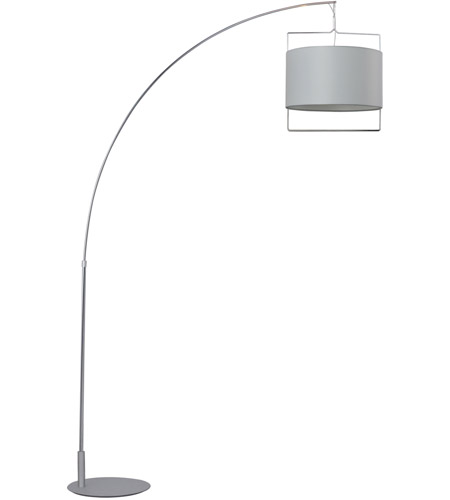 ET2 Passion 1 Light Floor Lamp in Satin Nickel and Polished Chrome E22314-01 photo