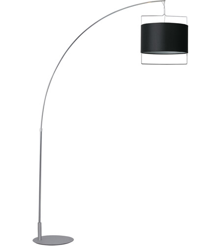 ET2 Passion 1-Light Floor Lamp in Satin Nickel and Polished Chrome E22314-02 photo