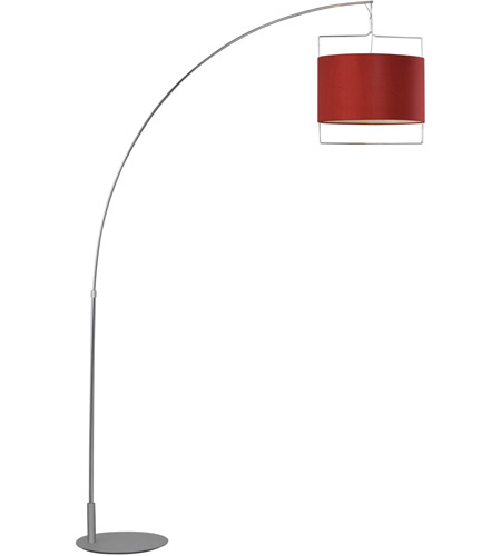 ET2 Passion 1-Light Floor Lamp in Satin Nickel and Polished Chrome E22314-03 photo