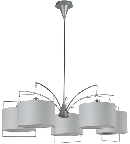 ET2 Passion 5 Light Chandelier in Satin Nickel and Polished Chrome E22316-01 photo