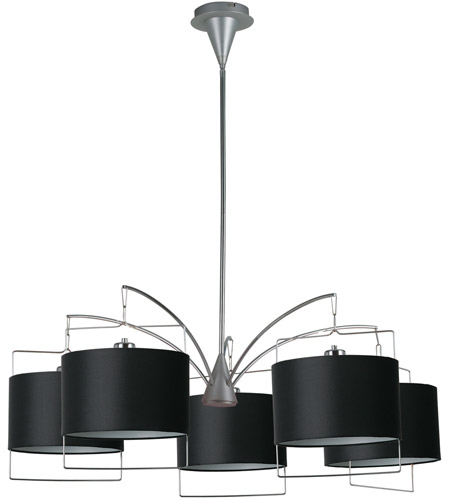 ET2 Passion 5 Light Chandelier in Satin Nickel and Polished Chrome E22316-02 photo