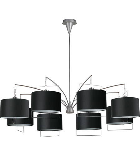 ET2 Passion 8-Light Chandelier in Satin Nickel and Polished Chrome E22317-02 photo