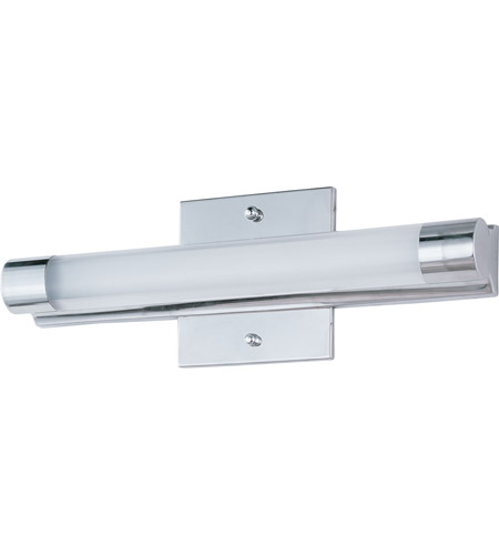 et2 e22391-10pc wand led led 14 inch polished chrome bath light