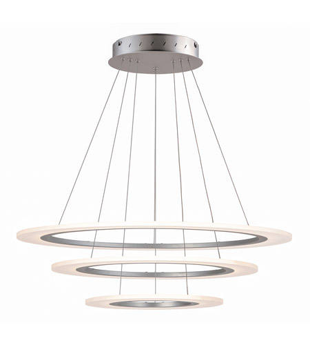 ET2 E22656-11MS Saturn II LED LED 32 inch Matte Silver Multi-Light Pendant Ceiling Light photo