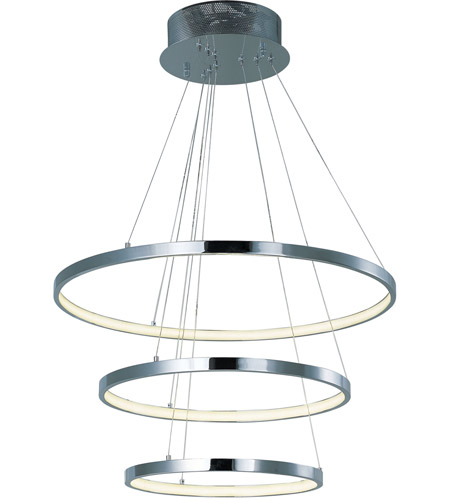 ET2 E22715-PC Hoops LED LED 24 inch Polished Chrome Pendant Ceiling Light photo