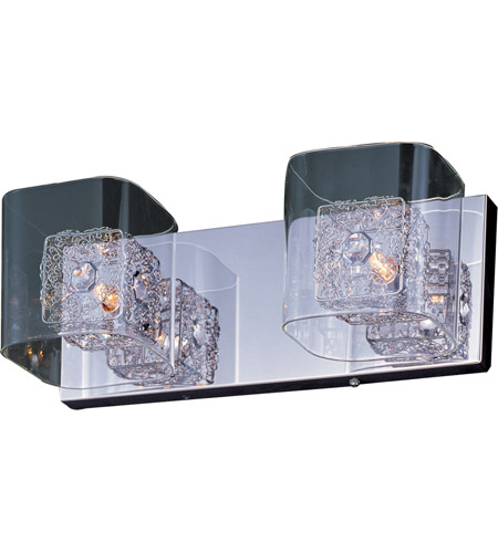 ET2 E22832-18PC Gem 2 Light 15 inch Polished Chrome Bath Light Wall Light in 14.5 in. photo