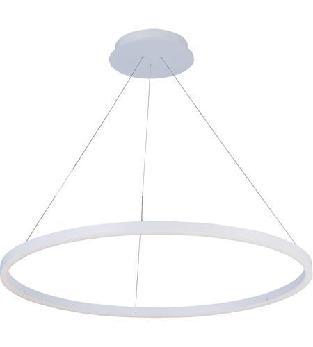 Et2 E22845 Mw Cirque Led 40 Inch Matte White Foyer Pendant Ceiling Light