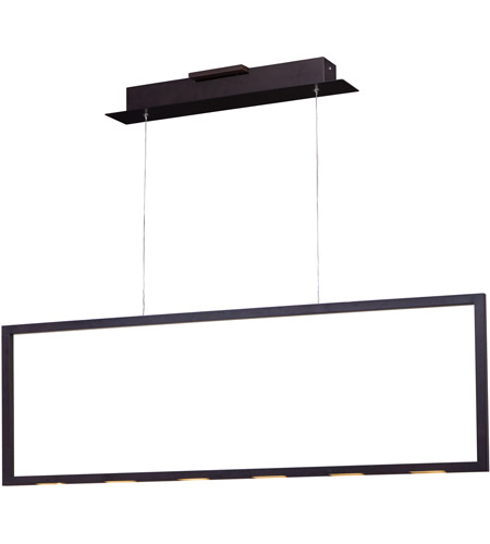 ET2 E22864-BZ Rhombus LED 44 inch Bronze Linear Pendant Ceiling Light photo