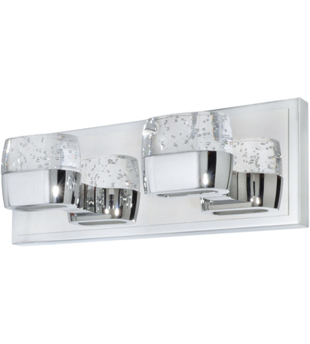 ET2 E22892-89PC Volt LED 14 inch Polished Chrome Bath Vanity Wall Light in 14 in.,  4 Light photo