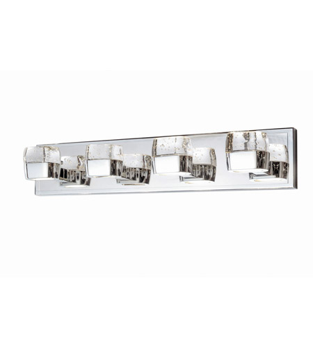 ... LED 27 inch Polished Chrome Bath Vanity Wall Light in 27 in., 8 Light