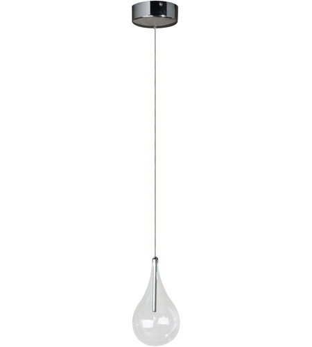 ET2 E23111-18 Larmes 1 Light 5 inch Polished Chrome Mini Pendant Ceiling Light  photo