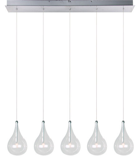 Et2 E23115 18 Larmes 5 Light 31 Inch Polished Chrome Linear Pendant Ceiling Photo