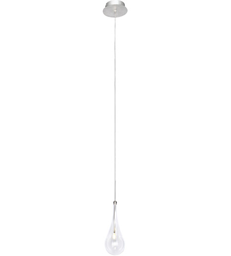 ET2 E23121-18PC Larmes LED LED 6 inch Polished Chrome Single Pendant Ceiling Light photo
