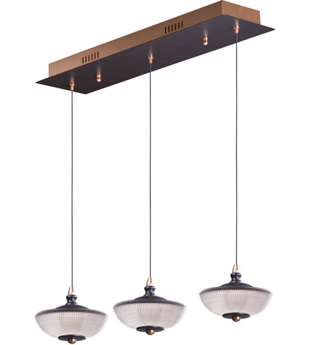 ET2 E23154-126BRZGLD Bella LED 6 inch Bronze and Gold Linear Pendant Ceiling Light photo