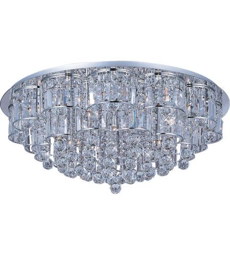 ET2 E23259-20PC Bangle 28 Light 32 inch Polished Chrome Flush Mount Ceiling Light photo