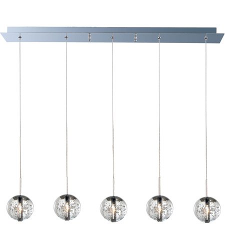 ET2 E24257-91PC Orb 5 Light 7 inch Polished Chrome Pendant Ceiling Light photo