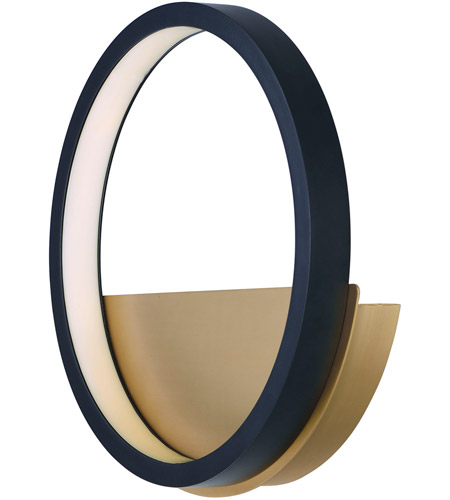 Et2 E24320 Bkgld Hoopla Led 30 Inch Black And Gold Ada Wall Sconce