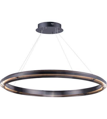 Echo Led 47 Inch Brushed Gunmetal Suspension Pendant Ceiling Light