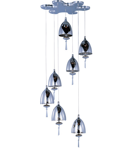 ET2 Chute 7 Light Pendant in Polished Chrome E24356-81PC photo