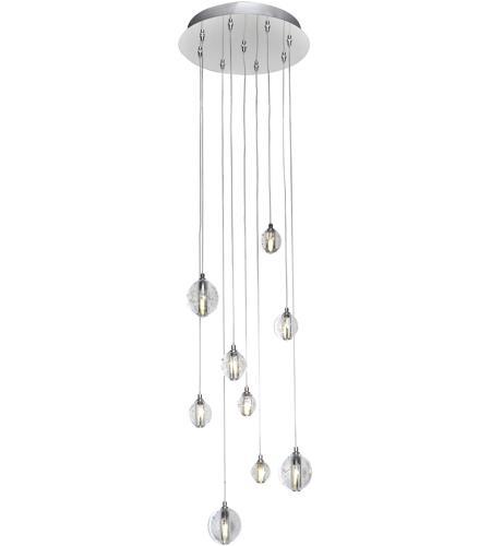 Et2 harmony 9 light led multi light pendant in polished chrome et2 e24506 91pc harmony 9 light 13 inch polished chrome multi light pendant ceiling aloadofball Images