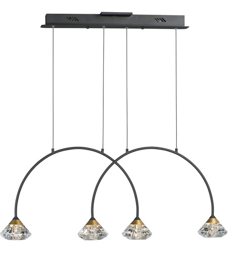 ET2 Metallic Gold Steel Island Lights