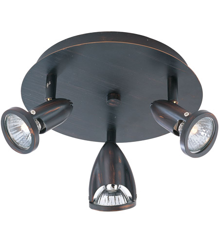 ET2 E30011-10BZ Agron 3 Light 9 inch Bronze Flush Mount Ceiling Light photo