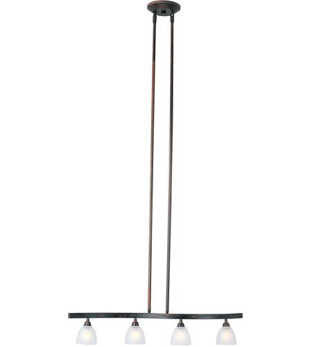 Fluorescent Light Fixture Fuse: ET2 E30051-11 Fuse 4 Light 27 Inch Bronze Linear Pendant