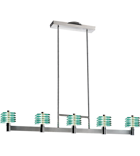 ET2 Steps 5-Light Island Pendant in Polished Chrome E30405-18 photo
