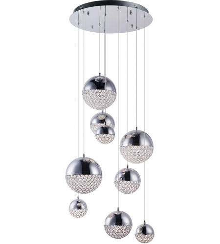 ET2 E31229-20PC Eclipse LED 24 inch Polished Chrome Multi-Light Pendant Ceiling Light photo