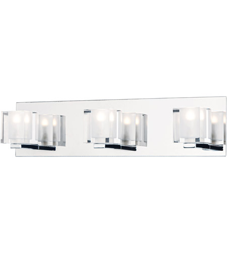 ET2 E32033-18PC Blocs LED LED 20 inch Polished Chrome Vanity Light Wall Light photo