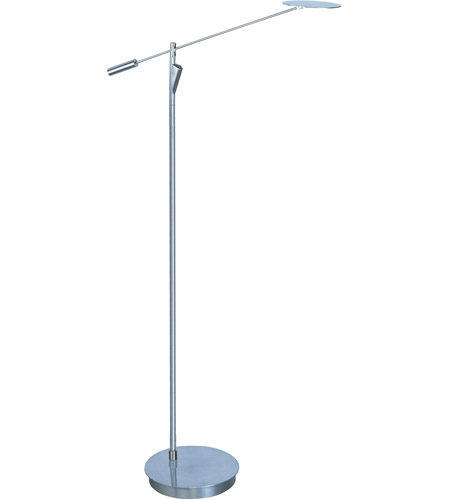 ET2 E41009-SN Eco-Task 58 inch 5 watt Satin Nickel Floor Lamp Portable Light photo
