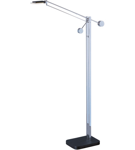 ET2 E41021-BK/PC Eco-Task 59 inch 5 watt Black and Polished Chrome Floor Lamp Portable Light photo