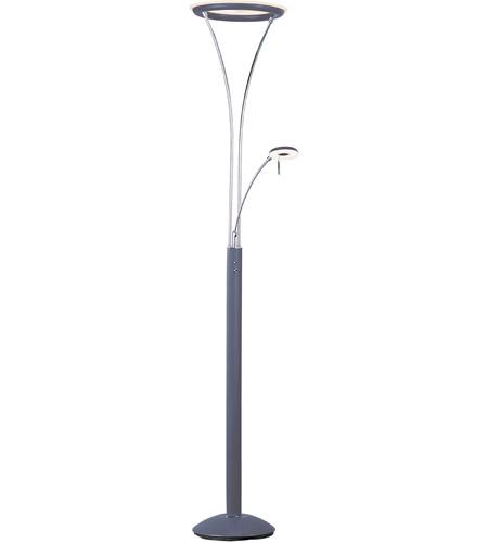 72 inch 6 watt platinum polished chrome floor lamp portable light. Black Bedroom Furniture Sets. Home Design Ideas