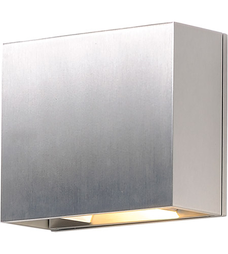 ET2 E41328-SA Alumilux Sconce LED 6 inch Satin Aluminum Outdoor Wall Sconce photo