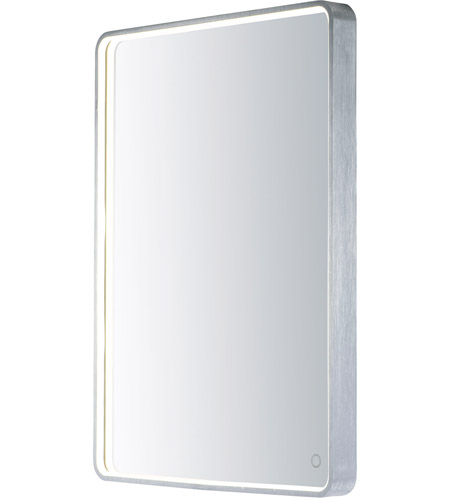 ET2 E42014-90AL Mirror 32 X 24 inch Brushed Aluminum LED Mirror photo