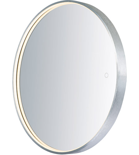 ET2 E42016-90AL Mirror 28 X 28 inch Brushed Aluminum LED Mirror photo