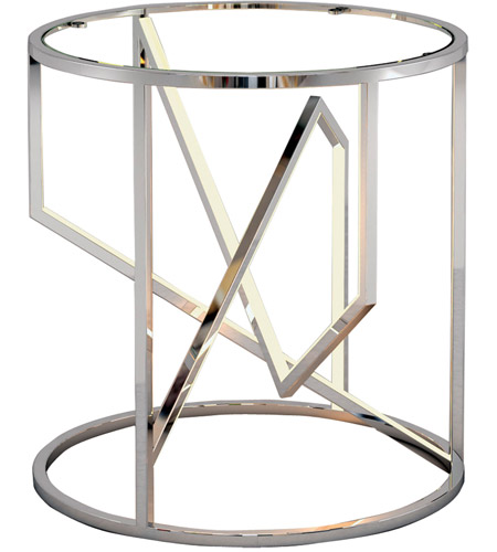 ET2 E71005-PC Trapezoid 21 X 20 inch Polished Chrome End Table photo