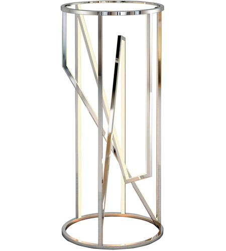 ET2 E71007-PC Trapezoid 36 X 16 inch Polished Chrome Accent Table photo