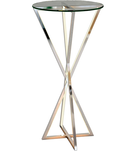 ET2 E71011-PC York 30 X 16 inch Polished Chrome Accent Table photo