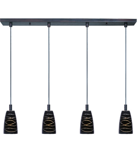 ET2 Carte 4 Light Linear Pendant in Bronze E91044-50 photo