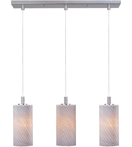 ET2 Carte 3 Light Linear Pendant in Satin Nickel E91153-39 photo