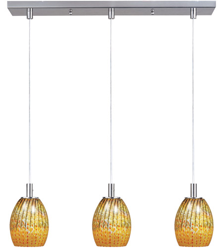 ET2 Carte 3 Light Linear Pendant in Satin Nickel E91173-53 photo