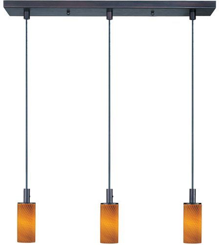 ET2 Carte 3 Light Linear Pendant in Bronze E92053-14 photo