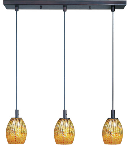 ET2 Carte 3 Light Linear Pendant in Bronze E92073-53 photo