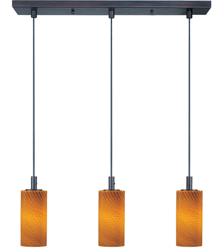 ET2 Carte 3 Light Linear Pendant in Bronze E93053-14 photo