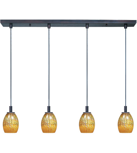 ET2 E93074-53 ET2 Carte 4 Light Linear Pendant in Bronze E93074-53  photo