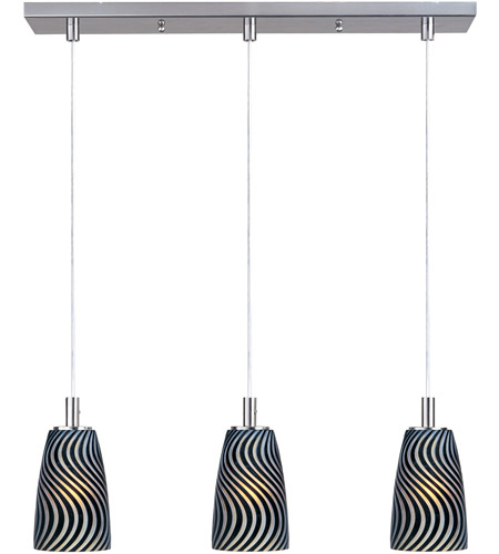 ET2 Carte 3 Light Linear Pendant in Satin Nickel E93143-51 photo